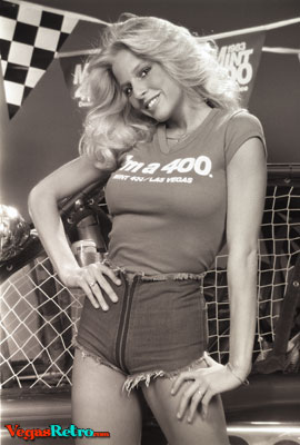 RACY - One of the 1983 Mint 400 Queens, Dona Speir, is proof that there was more than off-road excitement at this year�s Mint 400 Desert Race.  The event featured Dona and 4 other beauties, giving the racers extra incentive as they awaited them at the finish line of the race.