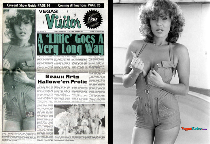 Eva Courtoy on the Vegas Visitor cover Oct 20, 1978