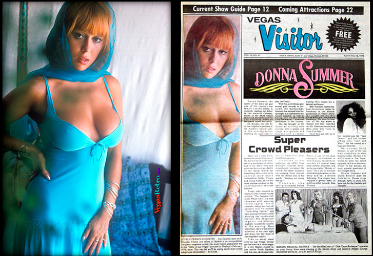 Eva Courtoy on the Vegas Visitor cover April 6, 1978