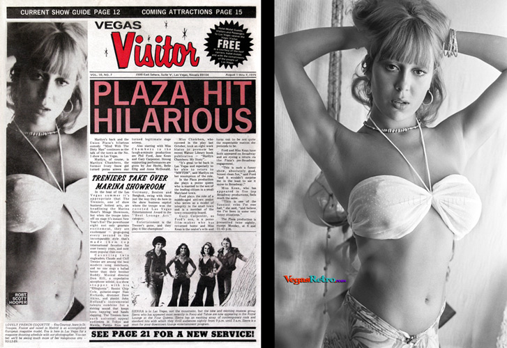 Eva Courtoy on the Vegas Visitor cover
