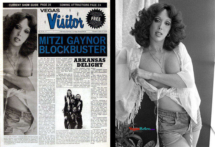 Photo of Francine Farrar on the Vegas Visitor Cover