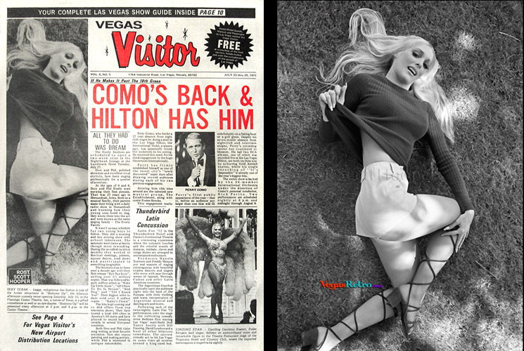 Photo of Jan Sutton from the Vegas Visitor Cover