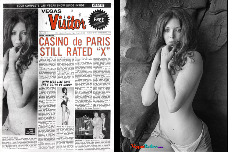 Photo of Janet Boyd on the Vegas Visitor Cover