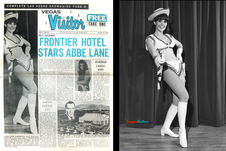 Janine White on the Vegas Visitor cover