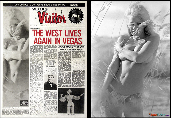 June Wilkinson on the cover of the Vegas Visitor