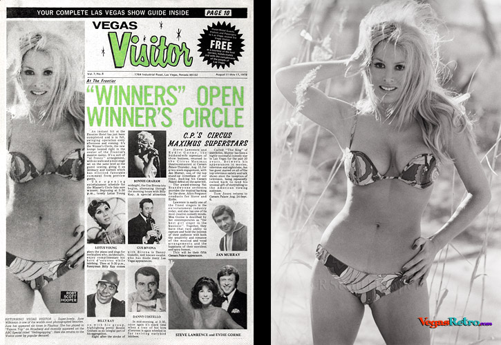 Photo of June Wilkinson from the Vegas Visitor Cover