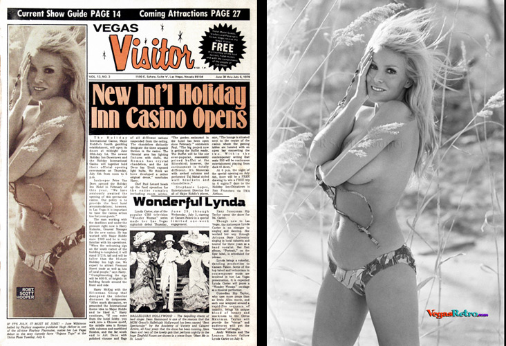 June Wilkinson on the Vegas Visitor cover