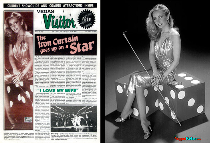 Photo of Kathleen Delaney from the Vegas Visitor Cover Photo