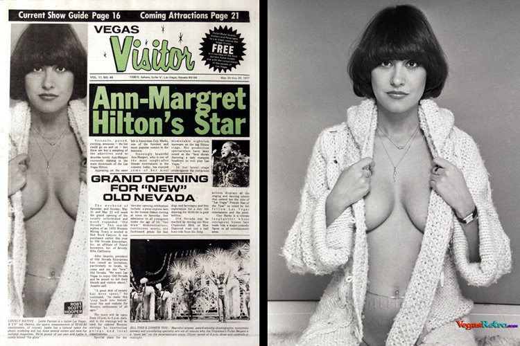 Lezlie Parsons on the Vegas Visitor Cover