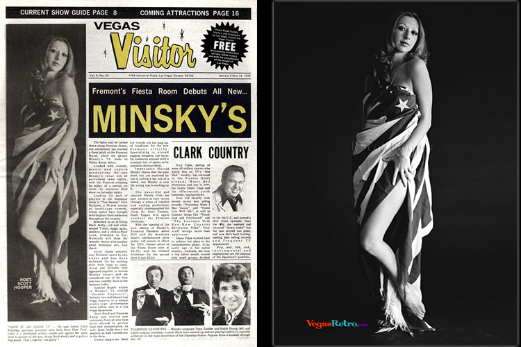 Lidia Priestley  photo on the Vegas Visitor Cover