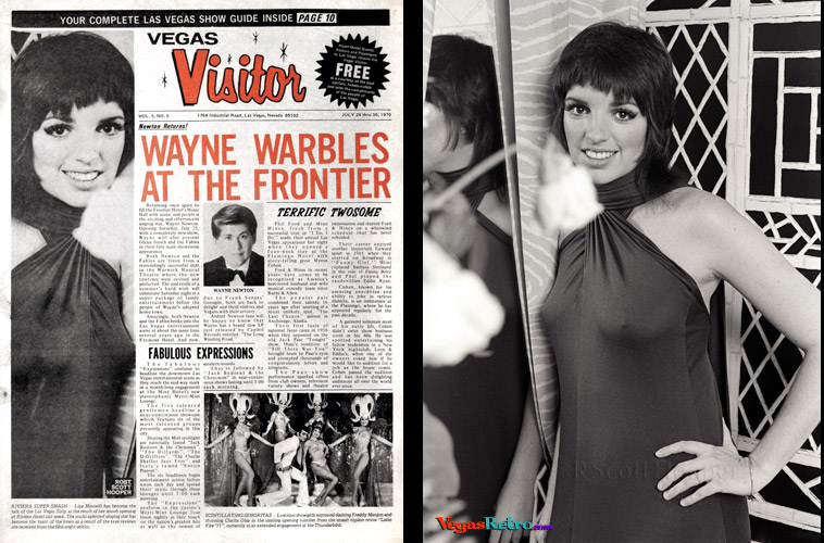 Liza Minelli on the Vegas Visitor cover