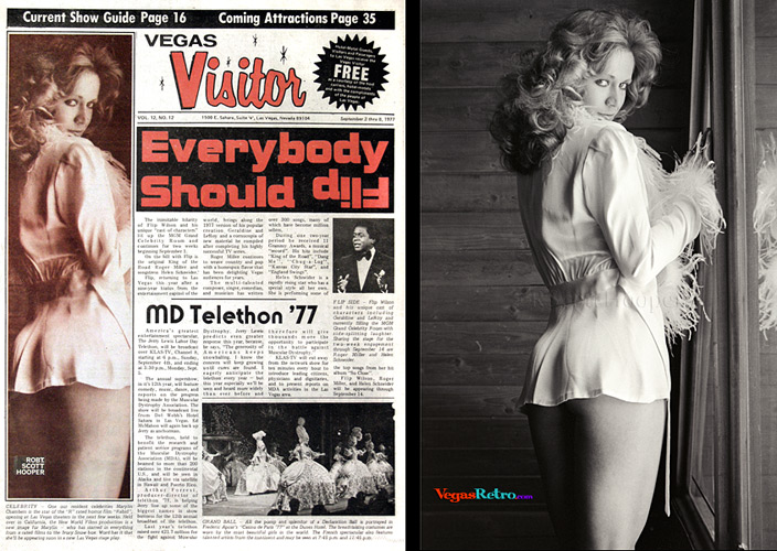 Marilyn Chambers on the Vegas Visitor Cover
