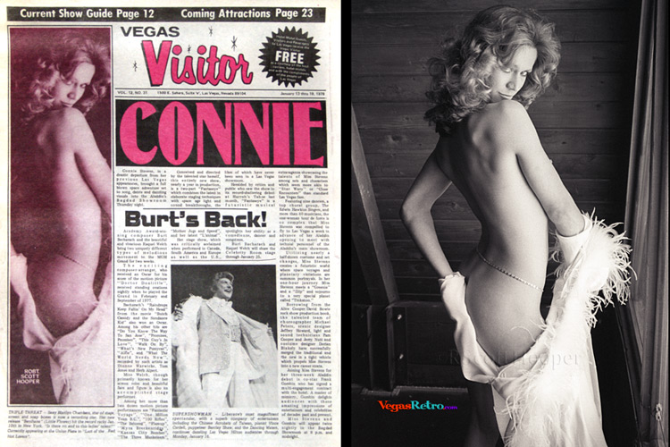 Marilyn Chambers photo on the Vegas Visitor Cover