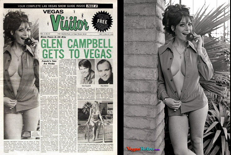 Photo of Marina Maubert on the Vegas Visitor Cover