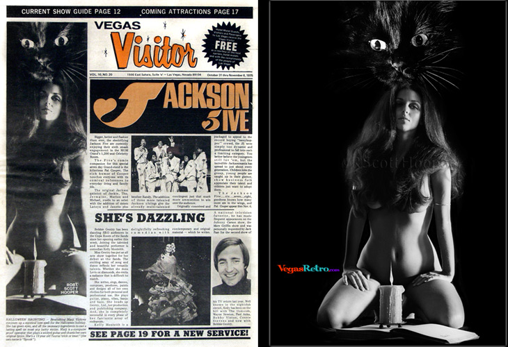 Photo of Marji Vickrey on the Vegas Visitor cover