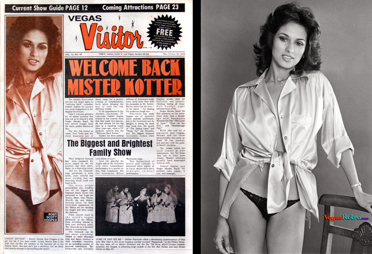 Norma Jean Fregeau photo on the Vegas Visitor Cover