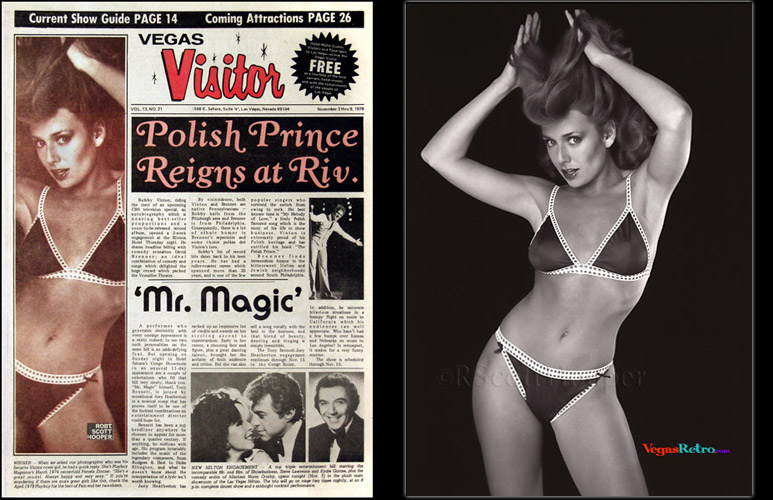 Playmate Pam Zinszer on the Vegas Visitor Cover