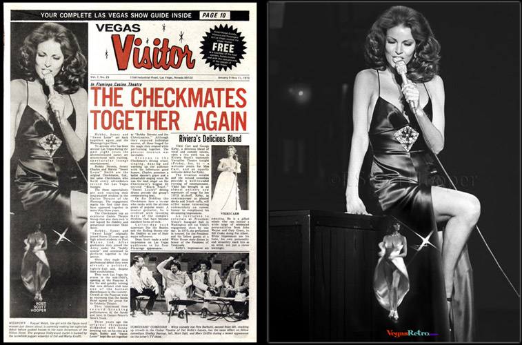 Raquel Welch  photo on the Vegas Visitor Cover