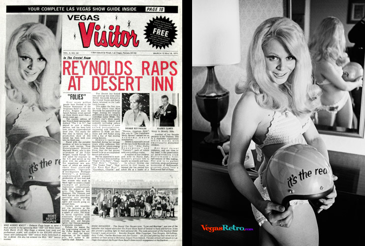 Rebecca Kapp photo on the cover of the Vegas Visitor