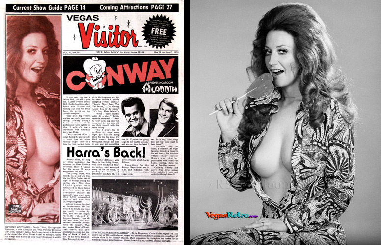 Sandy O'Hara photo on the Vegas Visitor cover