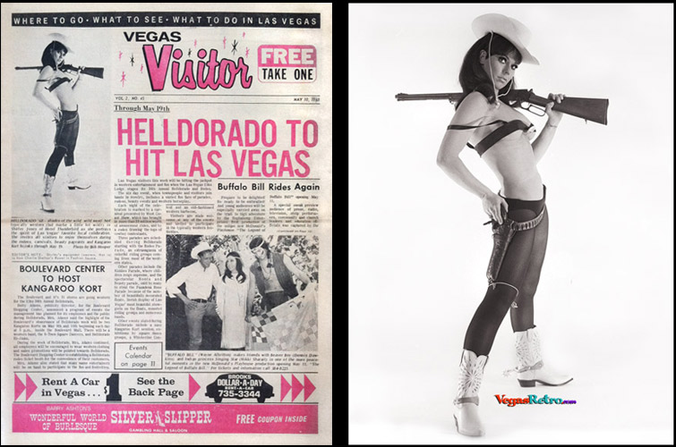Shirley Jones on the Vegas Visitor cover