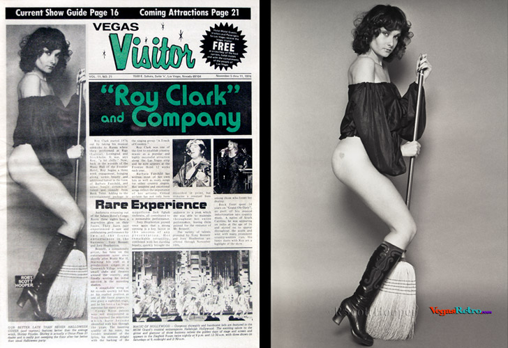 Shirley Rhodes on the Vegas Visitor Cover