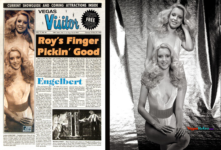 Photo of twins Staci & Sari Rudish on the Vegas Visitor cover