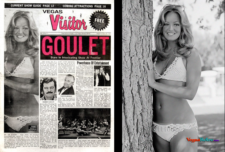 Susan Anton on the Vegas Visitor Cover in August 1973
