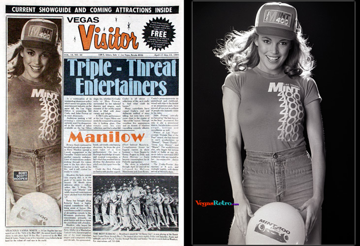 Photo of Vanna White on the Vegas Visitor Cover
