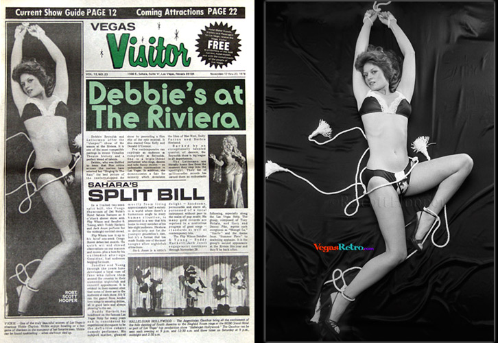 Vickie Clayton photo on the Vegas Visitor cover