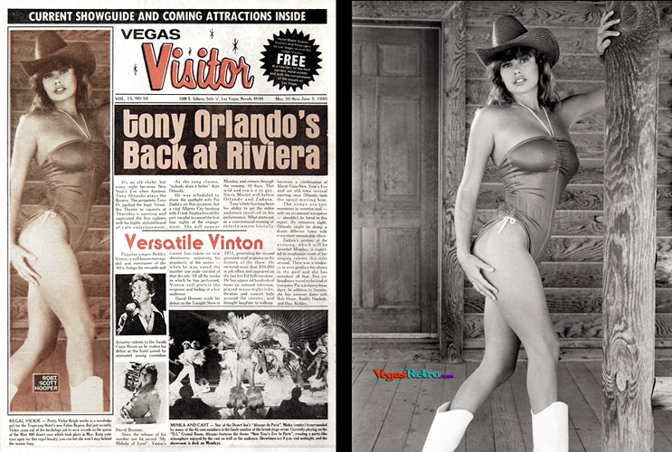 Photo of Mint 400 Queen Vickie Reigle on the Vegas Visitor cover