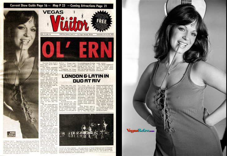 Photo of Wendy Childs on the Vegas Visitor Cover